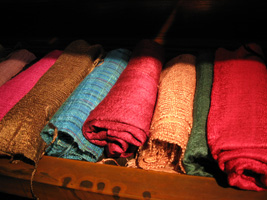 Our fine silks are imported from Thailand with fair trade practices
